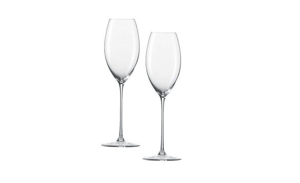 Zwiesel 1872 Set: Champagner Glas 2er-Set »Enoteca« in Transparent