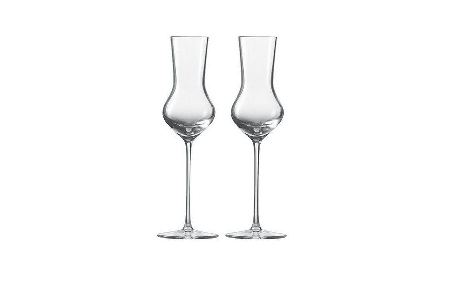 Zwiesel 1872 Set: Grappa-Edelobstbrand Glas 2er-Set »Enoteca« in Transparent