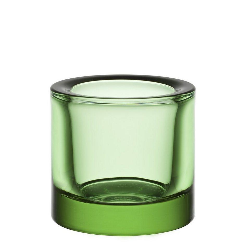 IITTALA Iittala Teelichthalter KIVI apfelgrün 6cm in apfelgrün