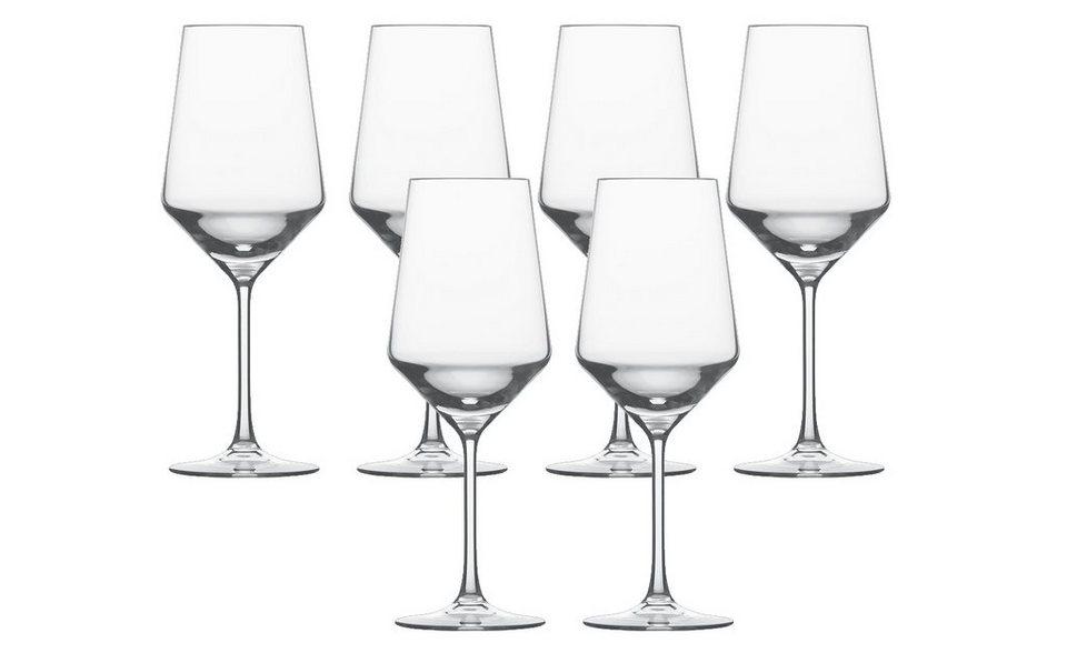 Schott Zwiesel Set: Cabernet Glas 6er-Set »Pure« in Transparent