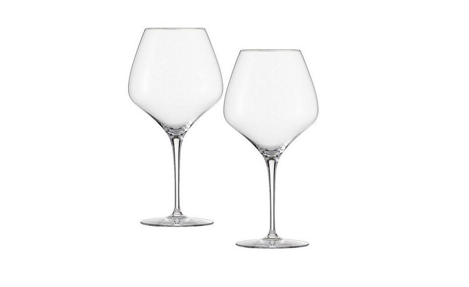 Zwiesel 1872 Set: Burgunder Glas 2er-Set »The First« in Transparent