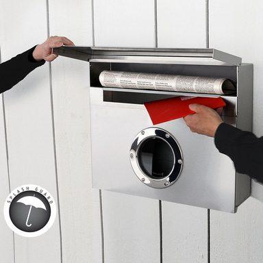 radius radius briefkasten letterman xxl silber otto. Black Bedroom Furniture Sets. Home Design Ideas