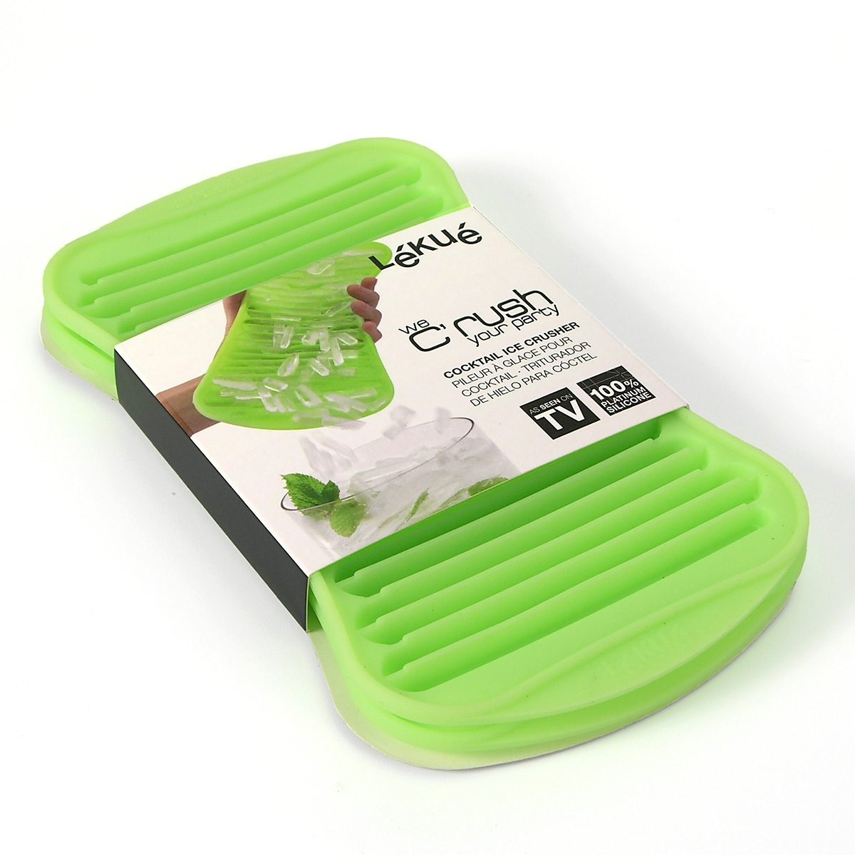 LEKUE Lekue ICE CRUSHER Eiswürfelbereiter grün - 2er Set