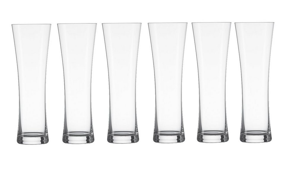 Schott Zwiesel Set: Weizenbierglas 6er-Set »Beer Basic« in Transparent