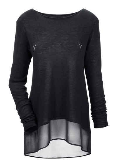 reputable site 0de3f 477f7 2-in-1 Pullover für Damen » Pullover mit Bluseneinsatz ...