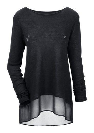 Aniston CASUAL Rundhalspullover im Vokuhila-Style