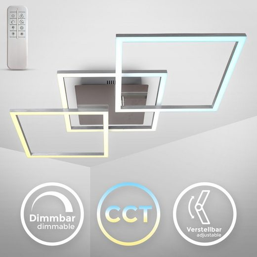 B.K.Licht Deckenleuchte »BKL1335«, 32 Watt LED-Frame CCT Farbtemperatursteuerung dimmbar schwenkbar Timer Nachtlicht Fernbedienung Memoryfunktion