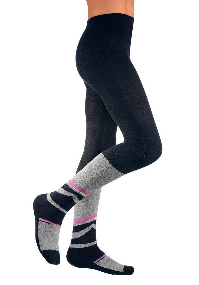 Damen Mädchen Eislaufen Hose Sporthose Wintersport Leggings Strumpfhose