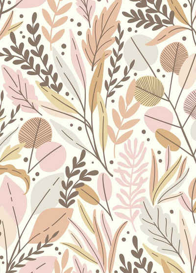 Komar Fototapete »Vliestapete Twigs«, glatt, bedruckt, geblümt, floral, realistisch, 200 x 280 cm