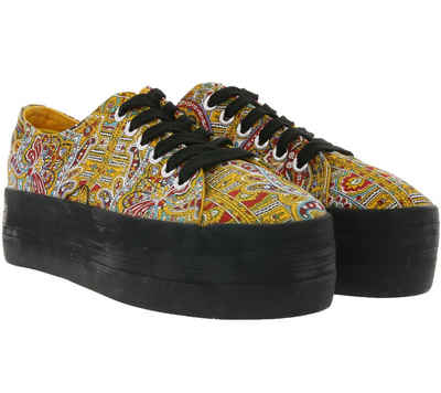 Sixtyseven »OUTSIDER by SIXTYSEVEN Plateau-Schuhe hohe Damen Sneaker Paisley Muster Turnschuhe Bunt« Plateausneaker