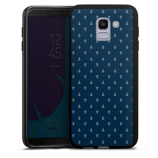 DeinDesign Handyhülle »Anchors Dark« Samsung Galaxy J6 (2018), Hülle Anker maritim Sommer