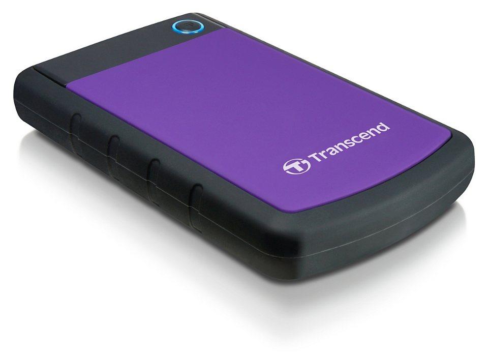 Transcend StoreJet 25 H3P Anti-Schock 500GB externe Festplatte, USB 3.0 in lilac