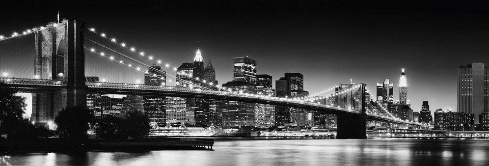 Bild, Home affaire, »New York - brooklyn bridge«, 118/40 cm in schwarz
