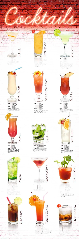 Bild, Home affaire, »Cocktails - german«, 30/90 cm
