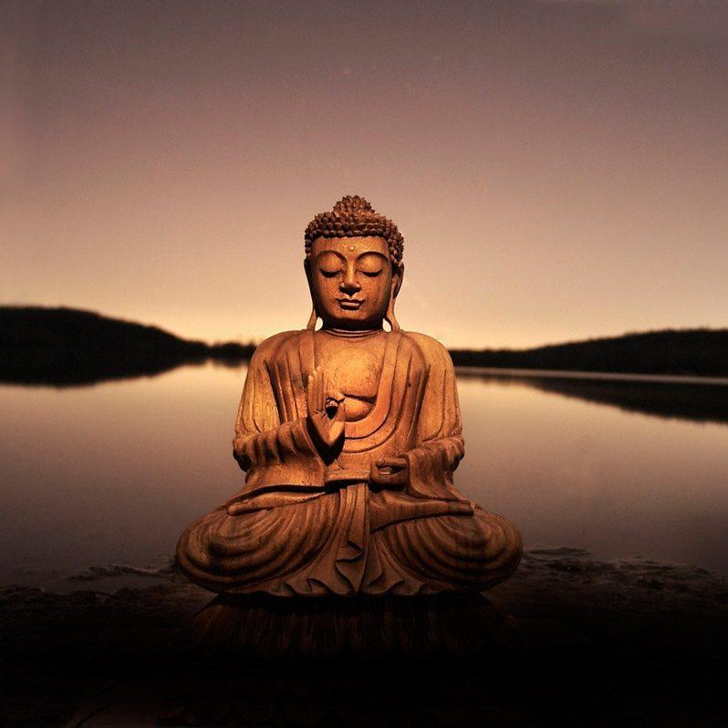 Bild, Home affaire, »Buddha - calm lake«, 40/40 cm