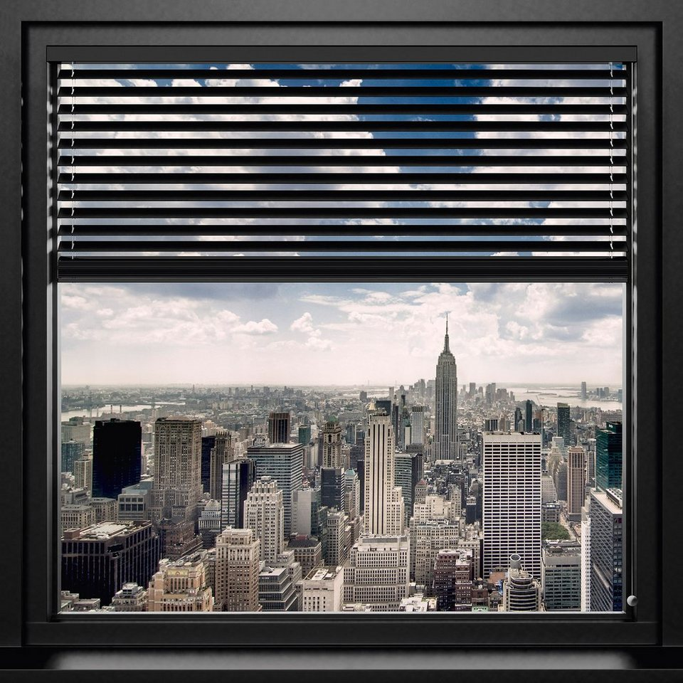 Bild, Home affaire, »New York - window blinds«, 90/90 cm in grau