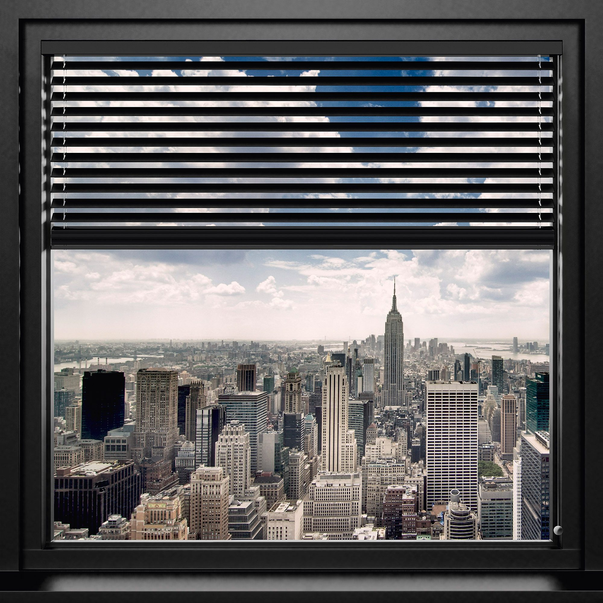 Bild, Home affaire, »New York - window blinds«, 90/90 cm