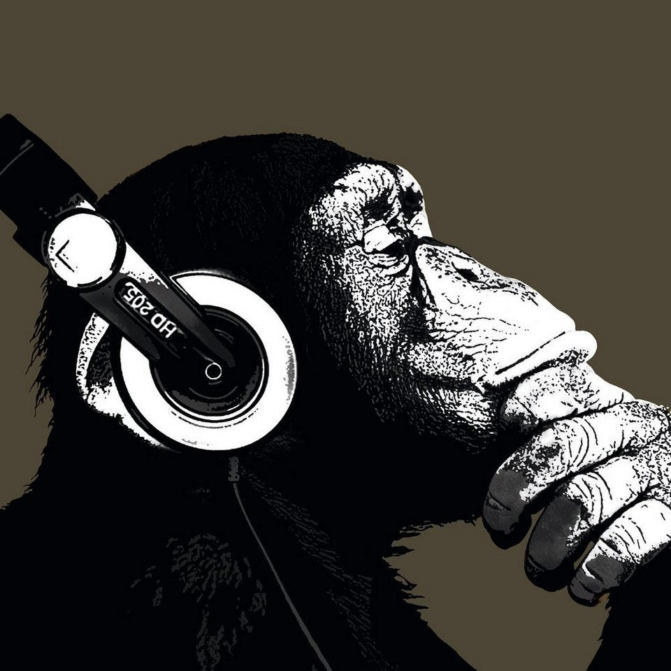 Bild, Home affaire, »The Chimp - stereo« in schwarz