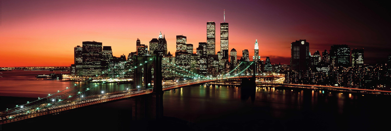 Home affaire Bild »New York - Brooklyn Bridge at night«, 156/52 cm