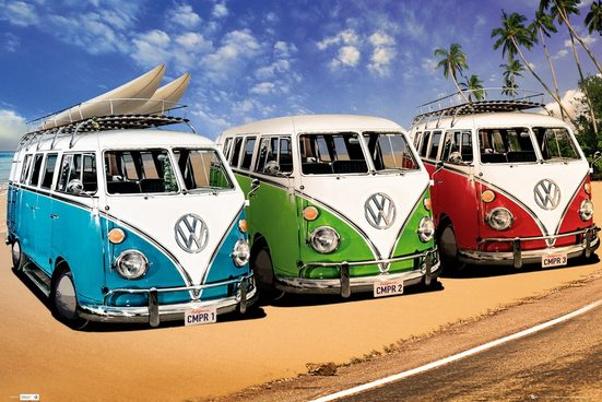 Home affaire Bild »VW Californian Camper - campers«, 90/60 cm