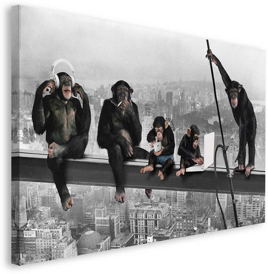 Bild, Home affaire, »The Chimp - girder«, 118/70 cm in grau