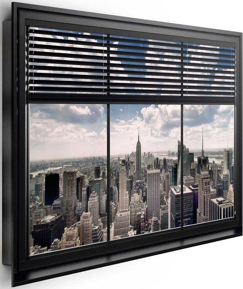 Bild, Home affaire, »New York - window blinds«, 90/60 cm in grau