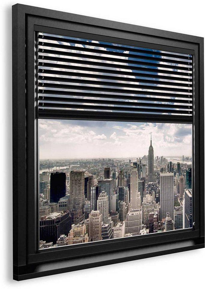 Bild, Home affaire, »New York - window blinds«, 90/90 cm in grau