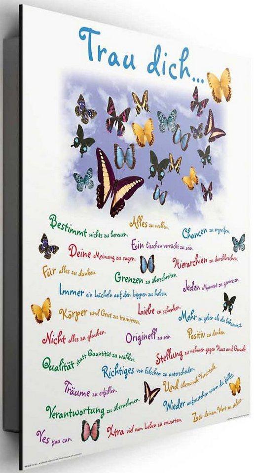 Bild, Home affaire, »Trau dich...«, 40/50 cm in lila