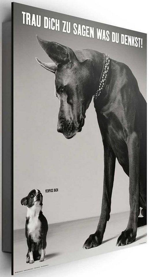 Bild, Home affaire, »Trau dich zu sagen...«, 40/50 cm in schwarz