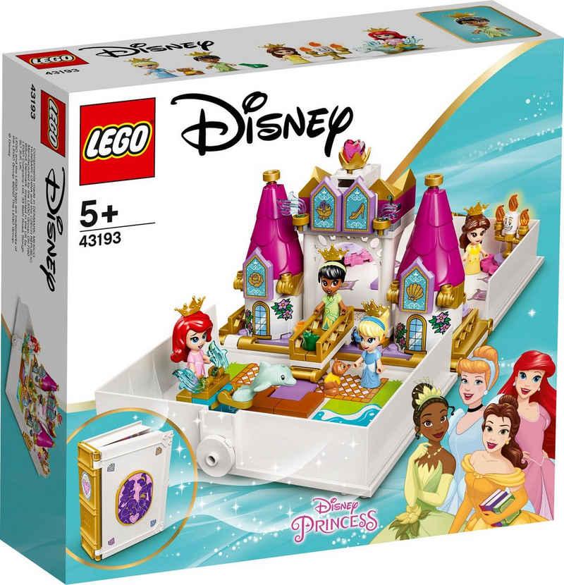 LEGO® Konstruktionsspielsteine »Märchenbuch Abenteuer mit Arielle, Belle, Cinderella und Tiana (43193), LEGO® Disney Princess™«, (130 St)