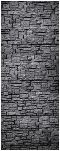 MySpotti Spritzschutz »fresh F1 Steinwand Anthrazit«, 100 x 255 cm