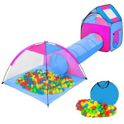 tectake Spielzelt »Spielzelt mit Tunnel, 200 Bällen und Tasche«