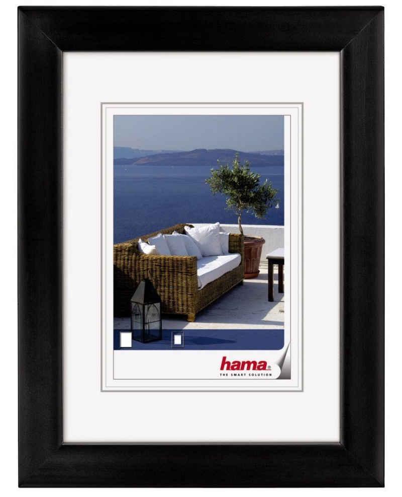 Hama Bilderrahmen »Hama Holz-Rahmen Cornwall Bilder-Rahmen Poster Fotos Portrait Wand Galerie Glas«, für 1 Bilder, mit Aufhängevorrichtung