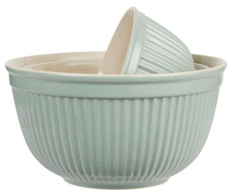 Ib Laursen Schüssel »3er Schüssel Set Schüsselsatz Keramik Mynte Green Tea Grün 2074-10 Ib Laursen«, Keramik