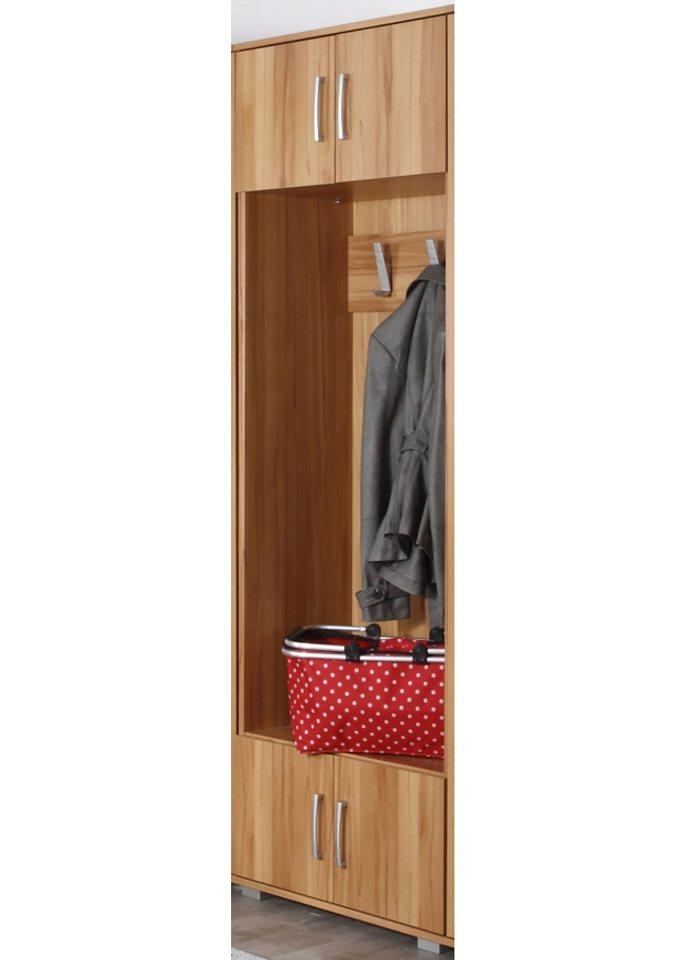 Garderobenpaneel in kernbuchefarben/weiß