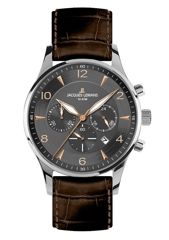 Jacques Lemans Classic Chronograph »London, 1-1654F« in braun