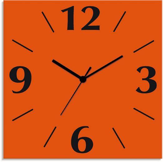 Artland Wanduhr »Uni Trendfarben« (lautlos, ohne Tickgeräusche, nicht tickend, geräuschlos - wählbar: Funkuhr o. Quarzuhr, moderne Uhr für Wohnzimmer, Küche etc. - Stil: modern)