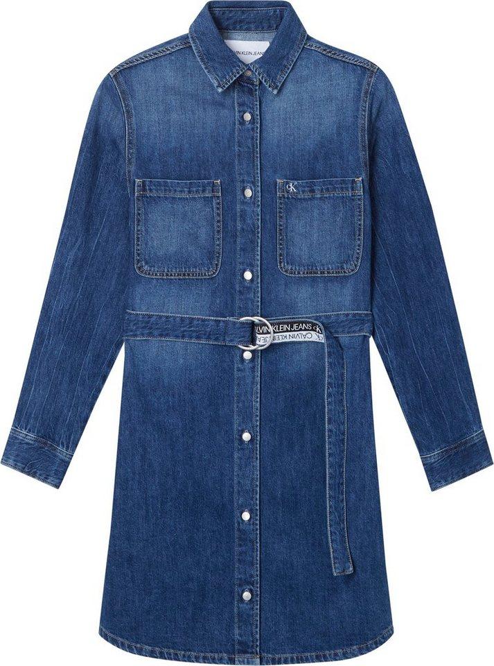 calvin klein jeans -  Jeanskleid »RELAXED SHIRT DRESS« mit  Logo-Gürtel
