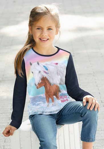 Miss Melody Langarmshirt »MISS MELODY« mit großem Pferdemotiv
