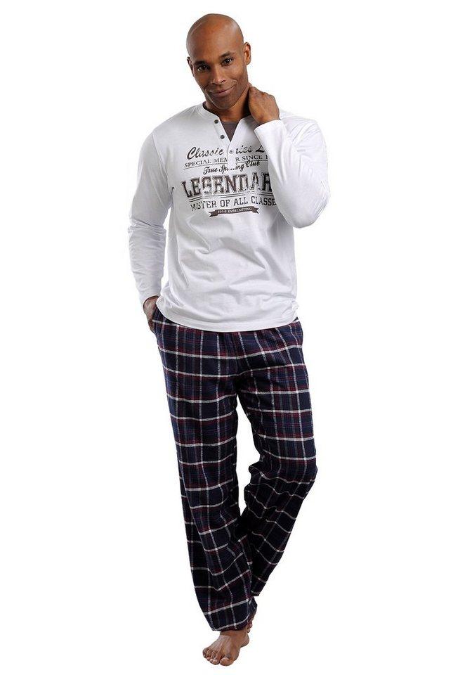 the best attitude 6993a 7f400 H.I.S Pyjama, in langer Form aus Flanell kaufen   OTTO
