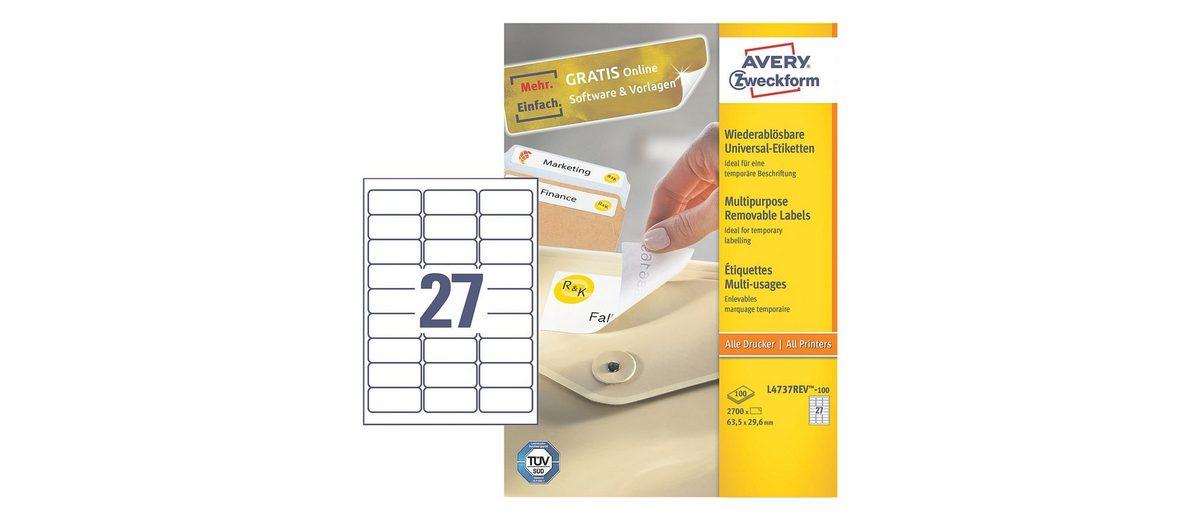 Avery Zweckform 2700er-Pack Universal Klebeetiketten »L4737REV-100«