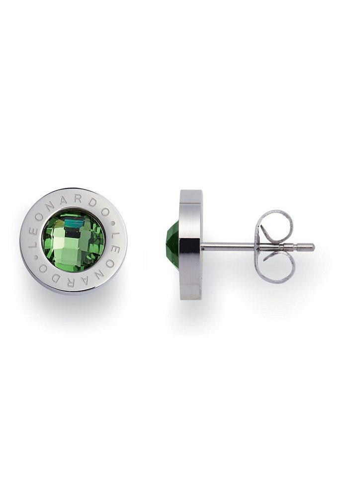 Paar Ohrstecker, Jewels by Leonardo, »matrix grün« in grün