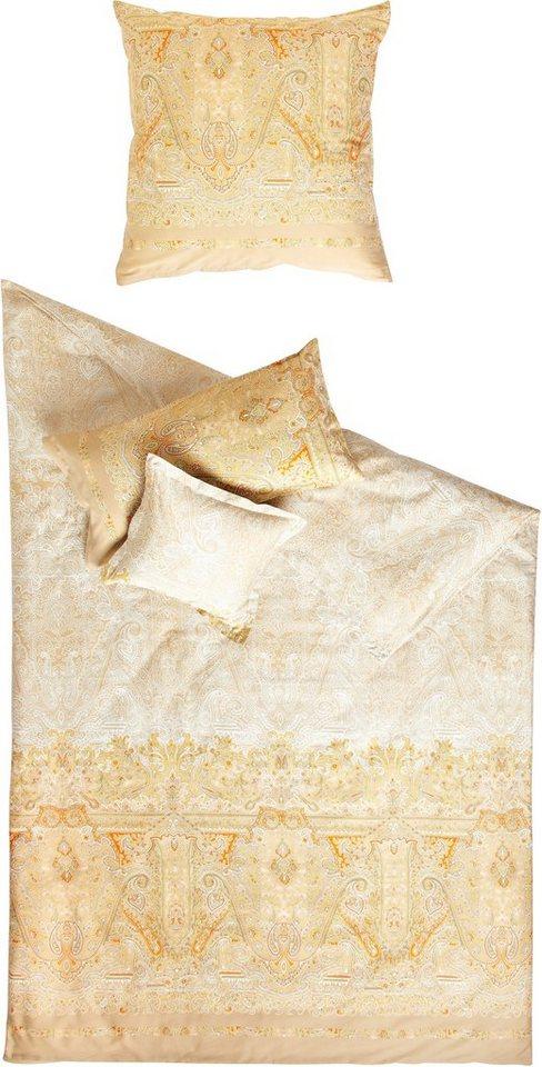 Bettwäsche, Bassetti, »Michelle«, mit antikem Muster in beige