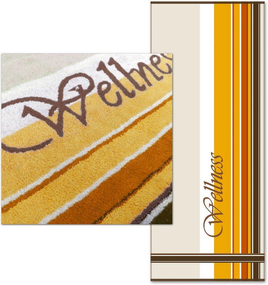 Saunatuch, Dyckhoff, »Wellness«, unterschiedliche Streifen in bronze