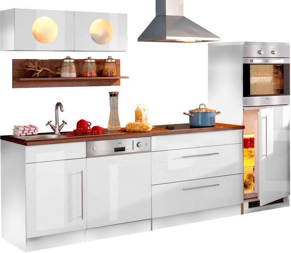 Küchenzeile »Keitum«, Breite 270 cm, mit Induktionskochfeld in Weiß