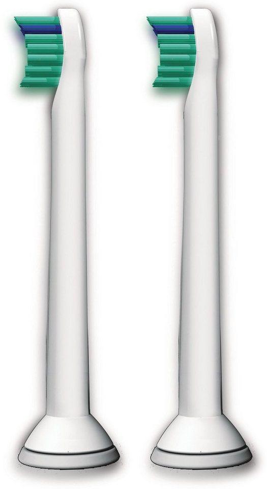 Philips Sonicare Ersatzbürsten HX6022/07 ProResultsMini, 2er Pack in weiß