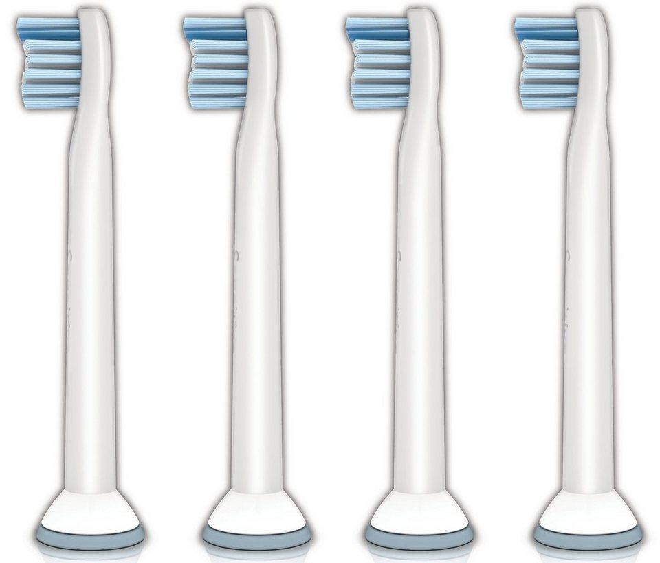 Philips Sonicare Ersatzbürste HX6084/07 Sensitiv, 4er Pack in weiß