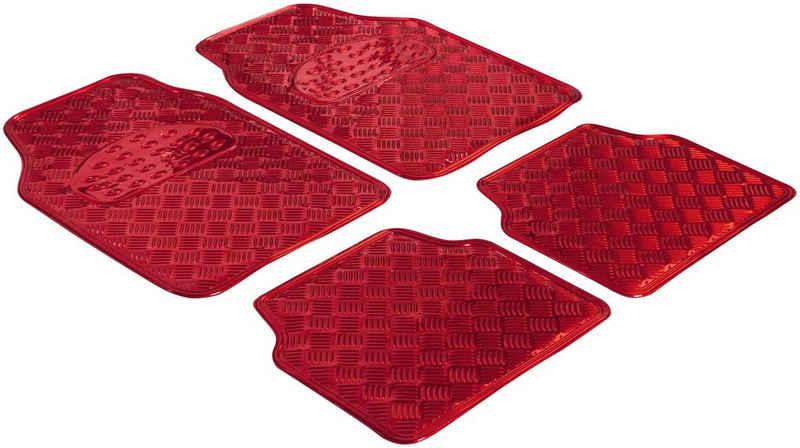 WALSER Universal-Fußmatten »Metallic Riffelblech look« (4 Stück), Kombi/PKW