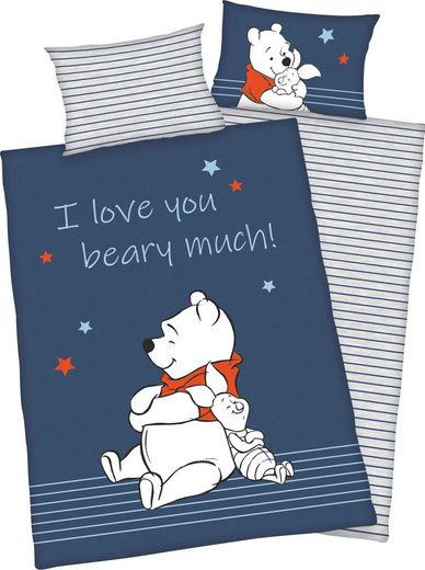 Babybettwäsche »Winnie Pooh«, Disney, mit tollem Wendemotiv