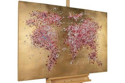 KUNSTLOFT Gemälde »Blühende Welt«, handgemaltes Bild auf Leinwand